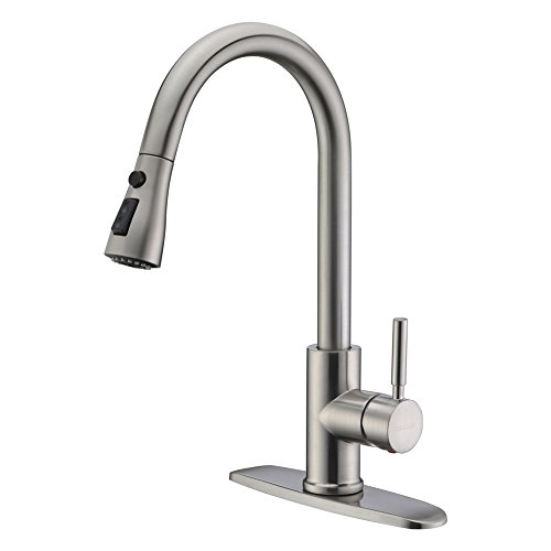 WEWE Single Handle High Arc Brushed Nickel Pull